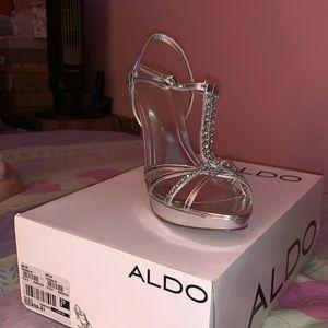 Silver also high heels